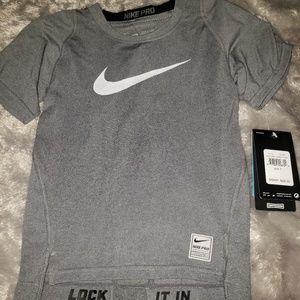 Nike Pro kids Compression Dri Fit grey SS top 7